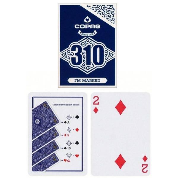Copag 310 markiertes Kartenspiel blau
